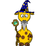 Vector graphics of magician giraffe