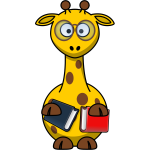 Vector clip art of nerd giraffe