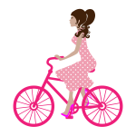 Female bicyclist vector image
