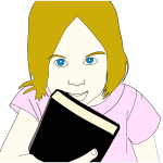 Girl With Book Portrait