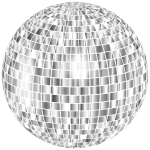Glimmering Disco Ball No Background