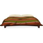 Glitch Simplified Log Cabin Bed