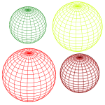 Selection of wired globes vector image