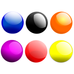 Colorful shiny buttons vector image