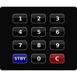 Black keypad vector clip art