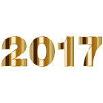 Gold 2017 Typography No Background