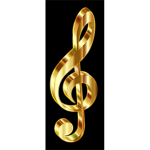Gold 3D Clef 2 Enhanced