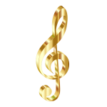 Gold 3D Clef 2 No Background