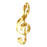 Gold 3D Clef No Background