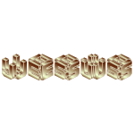 Gold 3D Isometric Jesus Typography 2 No Background