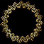 Gold Abstract Elegant Frame