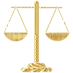 Gold Abstract Justice Scales 2