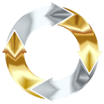 Gold And Silver Circular Arrows