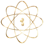 Gold Atom Molecule No Background