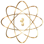 Gold Atom No Background