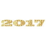 Gold Decorative 2017 Typography