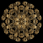 Gold Floral Flourish Motif Design