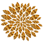 Gold Flower Petals Variation 5
