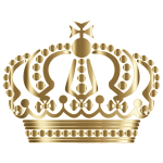 Gold German Imperial Crown No Background