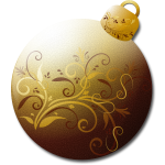 Christmas tree ornament in gold vector image