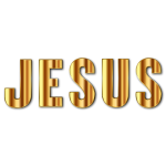 Gold Jesus Typography Enhanced