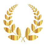 Gold Laurel Wreath 2 No Background