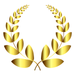 Gold Laurel Wreath 4 No Background