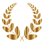 Gold Laurel Wreath 5 No Background