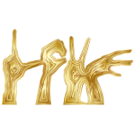 Gold Love Hands Silhouette