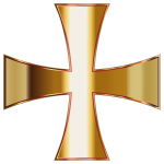 Gold Maltese Cross No Background