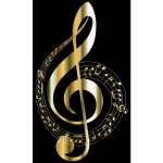 Gold Musical Notes Typography 2