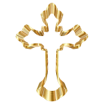 Gold Ornate Cross No Background