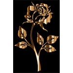 Gold Rose Silhouette 2