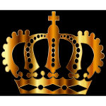 Gold Royal Crown Silhouette
