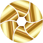 Gold Shutter Icon