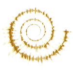 Gold Sound Wave Spiral Silhouette