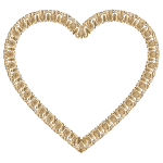 Gold Victorian Ornament Heart No Background