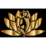 Gold Yoga Lotus