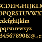 Gold Serif Letters