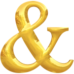 Gold typography &