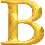 Gold typography B