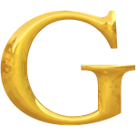 Gold typography G