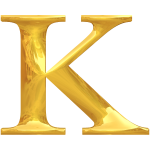 Gold typography K