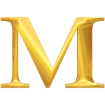Gold typography M