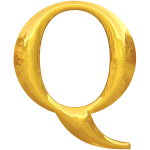 Gold typography Q