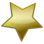 Golden star vector clip art