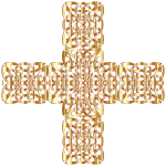 Golden Celtic Knot Cross 3 Without Background