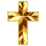 Golden Cross Love Deeper Color No Background