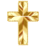 Golden Cross Love No Background