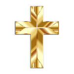 Vector clip art of gold cross